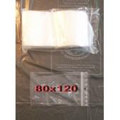 Lot 100 Sachet Zip 80 X 120