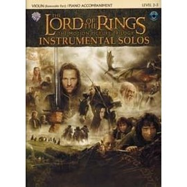 Lord of the rings instrumental solos (+ 1 CD) - violon