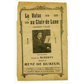 """Partition ancienne """" La Valse Au Clair de Lune """""""