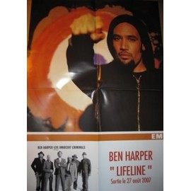 BEN HARPER & THE INNOCENT CRIMINALS PLAN MEDIA POSTER 60X40CM. LIFELINE