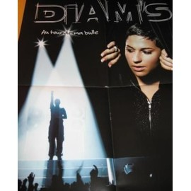 DIAM'S DIAMS Plan Media Poster 60x40cm. AU TOUR DE MA BULLE. 7856