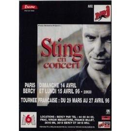 STING Publicite Du Magazine Rock'n'folk. EN CONCERT 1996. Format 30x21cm