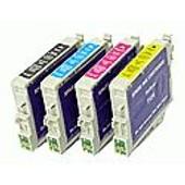 Pack De 4 Cartouches Compatibles Pour Epson Stylus Sx100 / Sx105 / Sx200 / Sx205 / Sx400 / Sx405 - 3 X Couleur 10ml + 1 X Noir 10ml