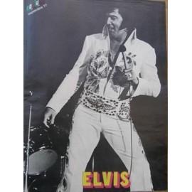 ELVIS PRESLEY POSTER REVUE PODIUM 09/77. 30X23CM