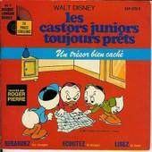 Les Castor Junior Toujours Prets Un Tresor Bien Cache - Walt, Disney Livre 24 Pages Couleurs = Disque Par Roger Pierre