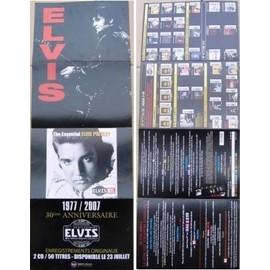 ELVIS PRESLEY PLAN MEDIA 30ème ANNIVERSAIRE 1977/2007