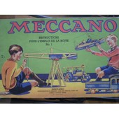 Meccano N� 1 : Instruction Pour L'emploi De La Boite