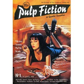 Brochure publicitaire de Pulp Fiction, film de Quentin Tarantino avec J. Travolta, Uma Thurman.... 1994