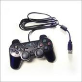 Manette Undercontrol Filaire Vibrante Noire Pour Ps3 - Avec C�ble Usb De 2m