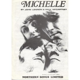 Michelle - Partition Chant et Piano - Français & Anglais - 1965