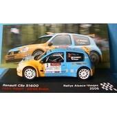 Renault Clio S1600 Rallye Alsace Vosges 2006 Ixo 1/43 Altaya