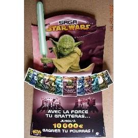 Star Wars Saga - Plv Yoda - Publicité française des Jeux