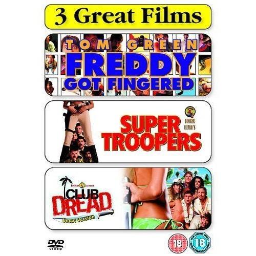 FREDDY GOT FINGERED/SUPER TROOPERS/CLUB DREAD (IMPORT)  (COFFRET DE 3 DVD)