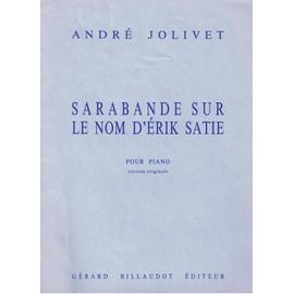 Sarabande sur le nom d'Erik Satie