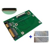 Adaptateur Convertisseur ZIF 1.8 vers SATA avec 2 nappes ZIF