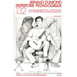 Répertoire Pédagogique Guitare Volume 1 : Thèmes célèbres,  de la Renaissance au vingtième siècle