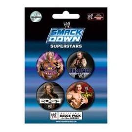 Wwe Wrestling Pack 4 Badges Smackdown