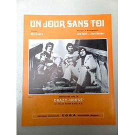 """Partition """"Un jour sans toi"""" (Crazy Horse)"""