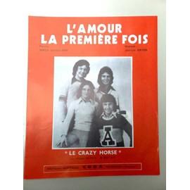 """Partition """"L'amour la première fois"""" (Crazy Horse)"""