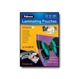 Fellowes Photo Laminating Pouches Enhance 80 Micron - 25 - 108 X 159 Mm Pochettes Plastifi�es