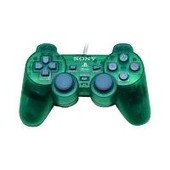Sony Dual Shock - Manette De Jeu - 12 Bouton(S) - Filaire - Vert - Pour Sony Playstation 2, Sony Ps One, Sony Playstation