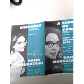 """Partitions """"A force de prier"""" (Eurovision 1963 - Nana Mouskouri) + """"Ensemble"""""""