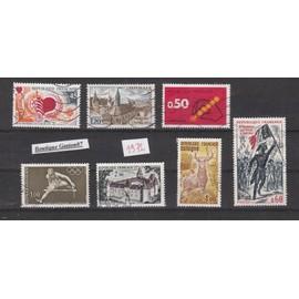 FRANCE 1972 : 7 timbres oblitérés..Yvert & Tellier n°1711, 1712, 1720, 1722, 1725, 1726, 1730...7 valeurs oblitérées..