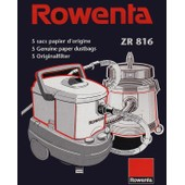 Lot de 5 sacs papier aspirateur Rowenta ZR 816 pour Bully, Collecto, Vorace