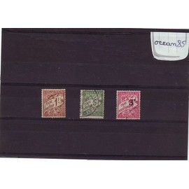 Algérie Française 1926/1945 : Timbres-Taxe - Lot de 3 timbres oblitérés dont 1 timbre surchargé