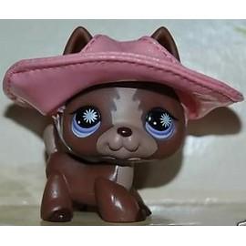 Petshop chien BERGER ALLEMAND chocolat chapeau - Pet Shop #867