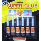 Lot De 6 Tubes Super Glue Extra Forte