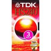 TDK HS240 - Pack de 3 Cassettes VHS