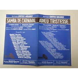 """Partition """"Adieu Tristesse / Samba de carnaval"""" (Orfeu Negro)"""