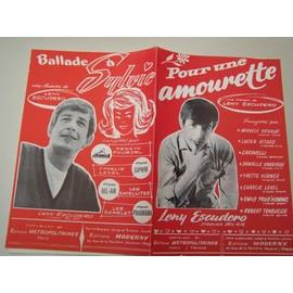 """Partition """"Pour une amourette"""" + """"Ballade à Sylvie"""" (Leny Escudero)"""