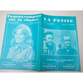 """Partition """"La Petite"""" (France Gall) + """"Tu peux compter sur ta chance"""" (Georgette Lemaire)"""
