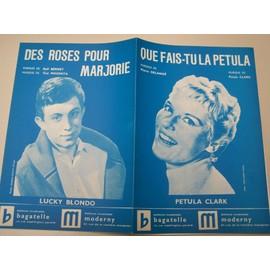 """Partition """"Que fais-tu Petula?"""" (Petula Clark) + """"Des roses pour Marjorie"""" (Lucky Blondo)"""