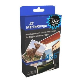 Mediarange - Papier Photo Brillant - 10 X 15 Cm - 220g/M� - 5760dpi - Pack De 50 Feuilles