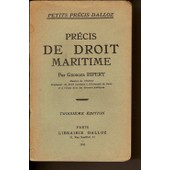 Precis De Droit Maritime de georges ripert