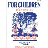 For Children, Based On Hungarian Folk Tunes (Pour Enfants, Inspir� Par Musique Folklorique Hongroise), Piano Solo, Vol. 1