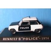 Renault 5 Police Pie 1974 Noir 1/43 Universal Hobbies