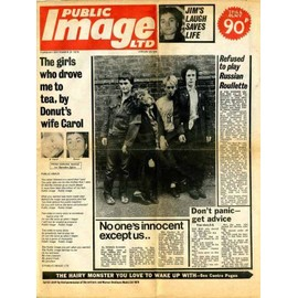 Public Image - Newspaper Poster Cover