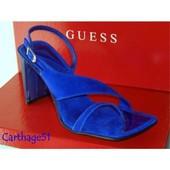 Guess Chaussures Escarpins Sandales - Daim Bleu Noir Marron Mauve Plusieurs Pointures Disponibles