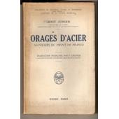 Orages D'acier, Souvenirs Du Front De France de Ernst J�nger