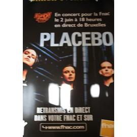 Placebo - Affiche exceptionnelle concert Bruxelles grand Format - 110x80 cm