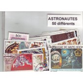 Astronautes - Lot De 50 Timbres Different - Divers Pays Du Monde