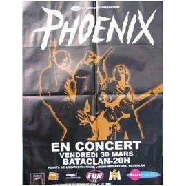 """affiche de concert """"Phoenix"""" vendredi 30 mars bataclan"""