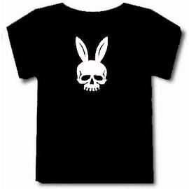 T-Shirt Autre Lapin T�te De Mort Bunny Playboy.