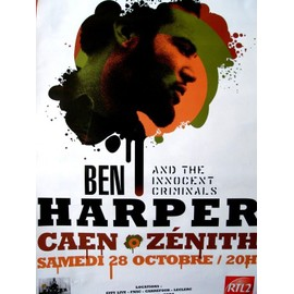 BEN HARPER both sides of the gun tour - affiche de concert