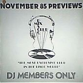 November 85 Previews / Dj Members Only - Chi-Lites / Grandmaster Melle Mel / Tyronne / Hugh Masekela .....