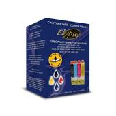 Cartouches G�n�riques Compatibles Epson Multipack T0715 - Noir, Jaune, Cyan, Magenta